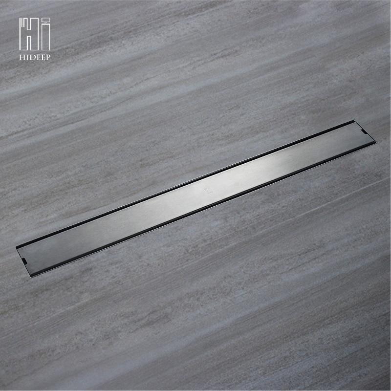 Bordure transversale pour 304 en acier inoxydable Long plancher Drain moyen Drainage désodorisant 100 Cm caché plancher Drain HIDL007A-5