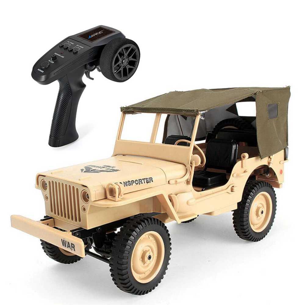 Coche 1/10 RC 2,4G 4WD Control remoto Jeep juguetes cuatro ruedas todoterreno militar escalada Coche vehículo militar de coches Diecast del ejército