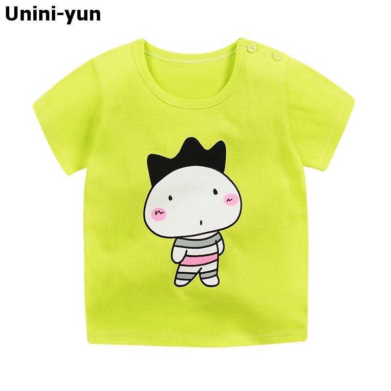 9m-6Y Children's T Shirt Boys T-shirt Baby Clothing Little Boy Summer Shirt Tees Designer Cotton Cartoon Dinosaur Brand