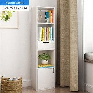 Современный минималистичный книжный шкаф, маленькая книжная полка для спальни, Практичный простой книжный шкаф для гостиной, полка для хра...