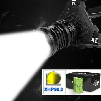 350000 lm XHP90.2 led headlamp headlight usb Zoom high power led head lamp torch 18650 rechargeable xhp70 XHP50 light fishing