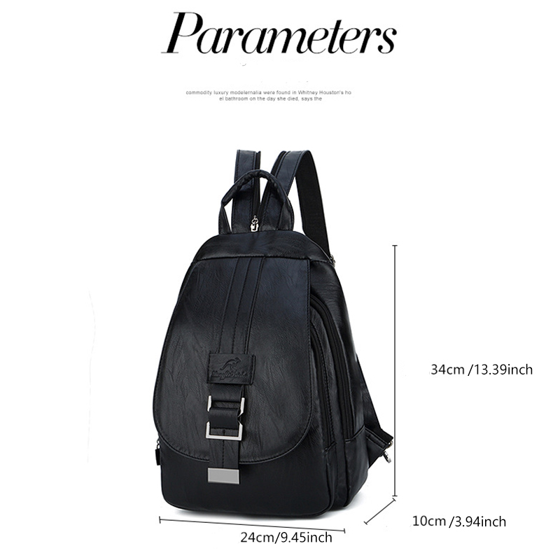 Women's Vintage Leather Backpack 4