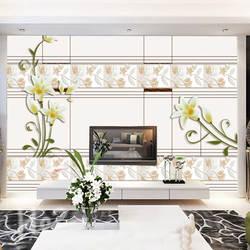 5D Настенные настраиваемые минималистичные современные водонепроницаемые ТВ фон диван гостиная настенные настраиваемые обои
