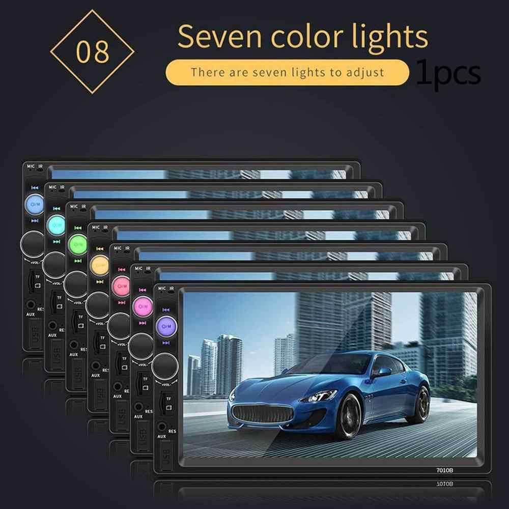 7010B 7 インチダブル 2DIN 車 MP5 プレーヤー BT タッチスクリーンステレオラジオ HD マルチメディアプレーヤーサポート同一画面