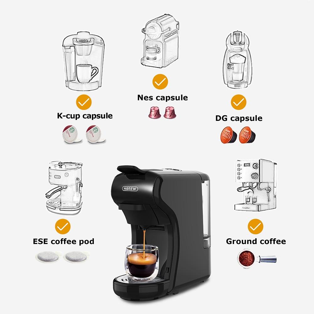 HiBREW Coffee Machine 19 Bar 3in1&4in1 Multiple  Capsule Espresso  Cafetera , Pod  Coffee Maker Dolce Milk&Nexpresso &Powder  H1 2