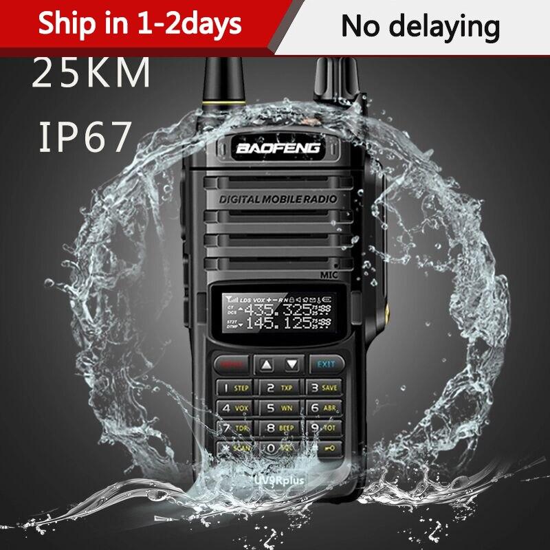 2020 Baofeng UV-9R Plus  Waterproof IP68 Walkie Talkie High Power CB Ham 50 20 KM Long Range UV9R Portable Two Way Radio Hunting