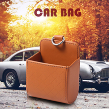 цена на Auto Storage Bag Air Vent Outlet Storage Box PU Leather Mobile Phone Holder Sunglasses Ticket Card Container Tidy Car Organizer