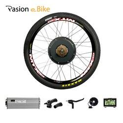 Kit vélo électrique 1500w moteur roue 48V E vélo Kit 1500W roue moteur électrique vélo Kit de Conversion pour 20-29in arrière moyeu moteur