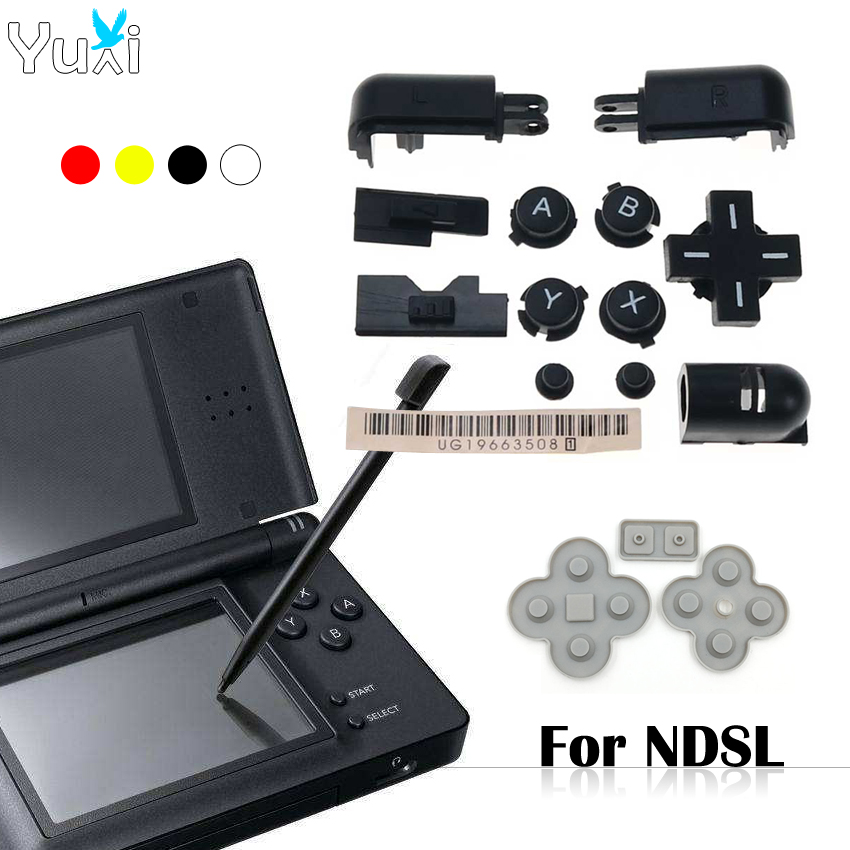YuXi Full Buttons Set A B X Y Abxy L R D-Pad Cross Button For Nintend DS Lite For NDSL Buttons & Conductive Rubber