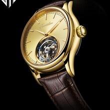 GIV Mechanical Watch 100%Tourbillon Watch Men Waterproof Han