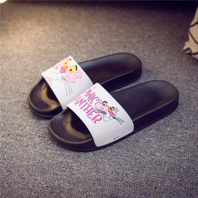 ZOOLIM Women Slippers Pink Panther Cartoon Female Summer Slides Flip Flops Zapatillas Mujer Diapositives