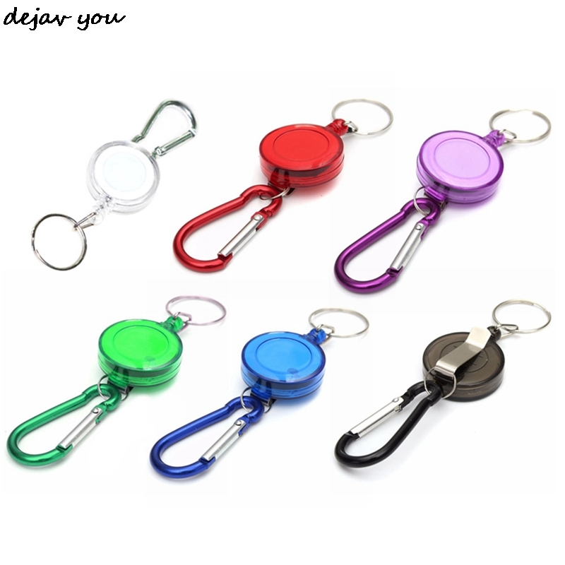 2 Neck Strap Lanyard Retractable Badge Holder Carabiner Reel Clip for Phone Keychain Printed Fabric ID Card Holder