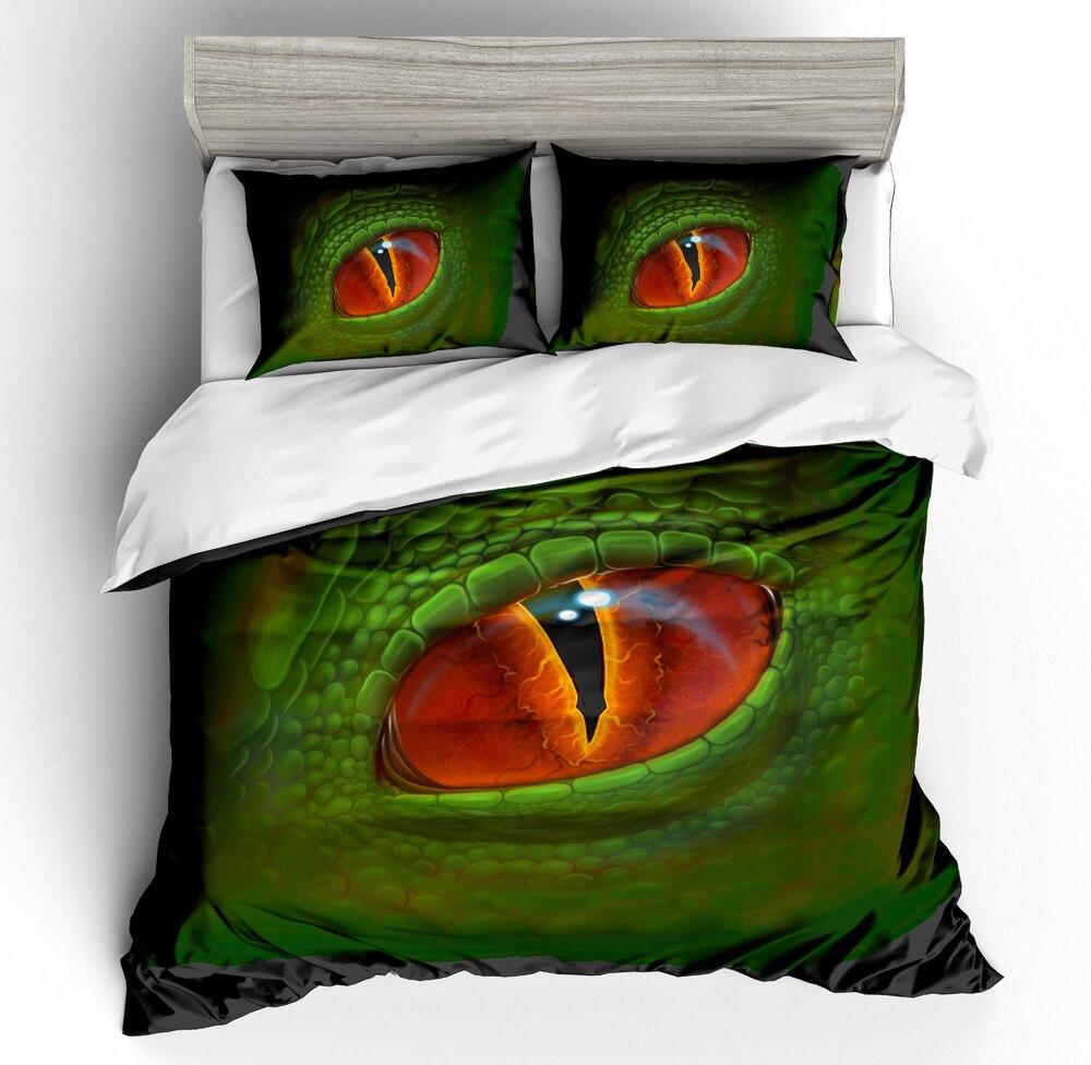 Ensembles de literie d'impression 3D housse de couette image de dinosaure quatre saisons une couverture de lit et deux taie d'oreiller 3 pièces reine roi taille