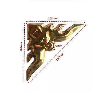 Image 3 - 4Pc einzigartige 304 metall handwerk ecke applique rahmen wand tür möbel edelstahl dekoration fledermaus blume