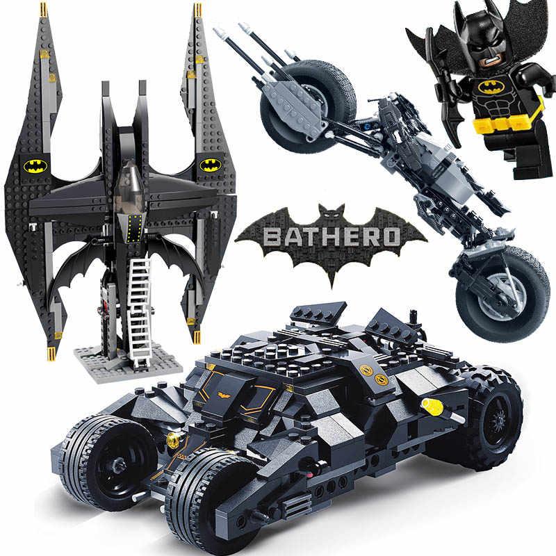 Super Hero Batman and Joker Batwing Compatible with Legoinglys Model Building Blocks for Children Boy Game Toys Technic Bricks