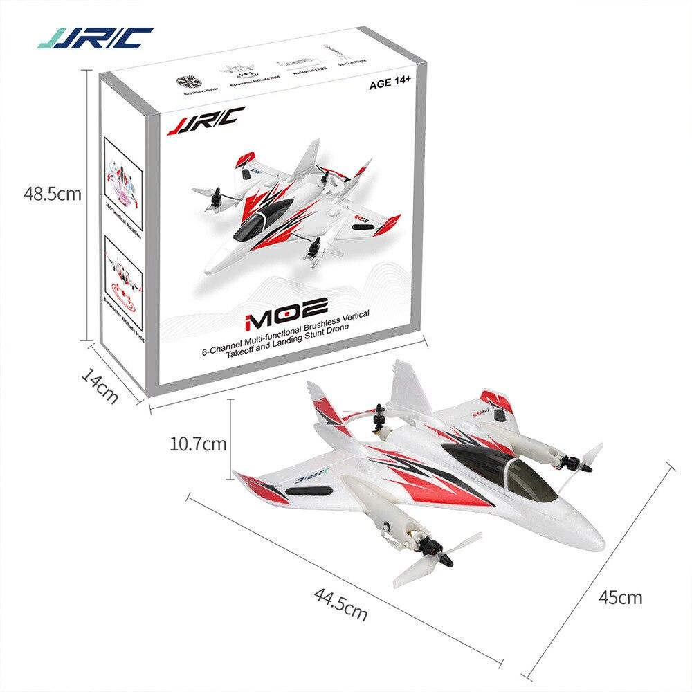 Original JJRIC M02 2.4G 6CH Brushless 6 axes gyroscope cascadeur RC avion multifonctionnel 3D/6G cascadeur avion