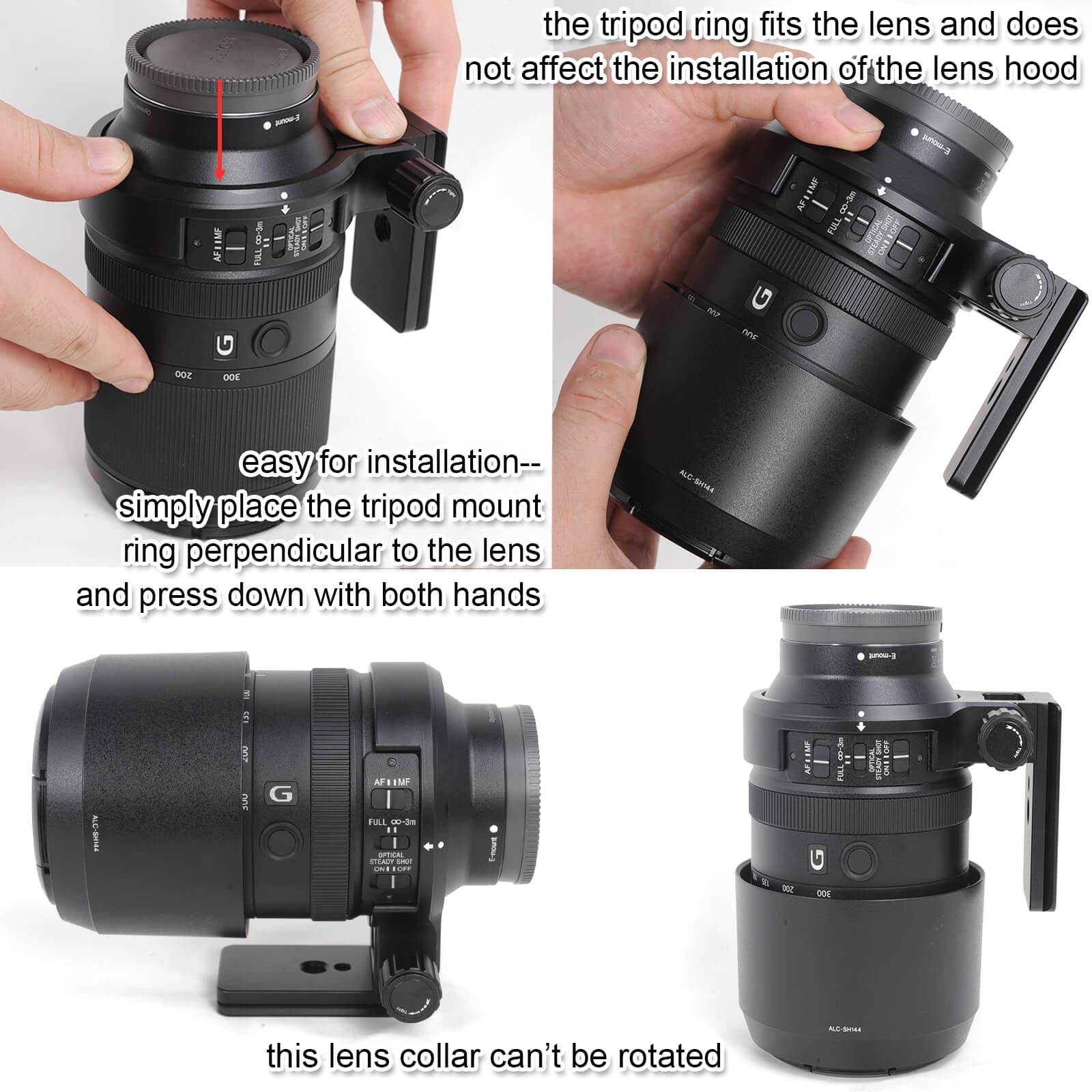 Объектив воротник штатив крепление кольцо для sony FE 70-300 мм f/4,5-5,6G OSS объектив SEL70300G, встроенный Arca-Swiss Quick Release Plate