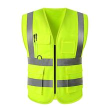 Cycling Reflective Vest Multi-Pocket Waterproof Reflective Vest High Visibility Safety Jacket At Night for Running Camping new high visibility elastic safety reflective vest belt waistband chaleco reflector for night outdoor running cycling working