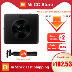 In Stock Xiaomi Mijia 360° Panoramic Camera 3.5K Video Recording Sphere Camera IP67 rating WiFi Bluetooth Mini Sport Camcorder