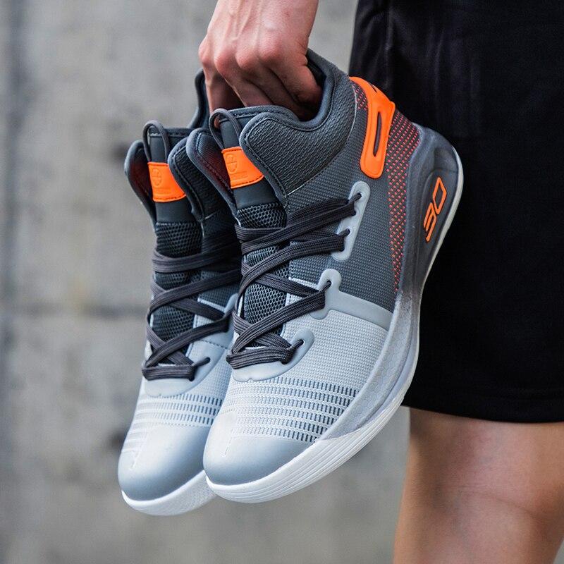 Brand Hot High-Top Shockproof Men Women Kids Basketball Shoes Breathable No-Slip Men Basketball Sneakers Light Soft Sport Shoes
