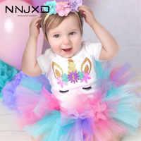 Vestidos bonitos de princesa de unicornio para niñas, traje de primer cumpleaños, traje de Año Nuevo