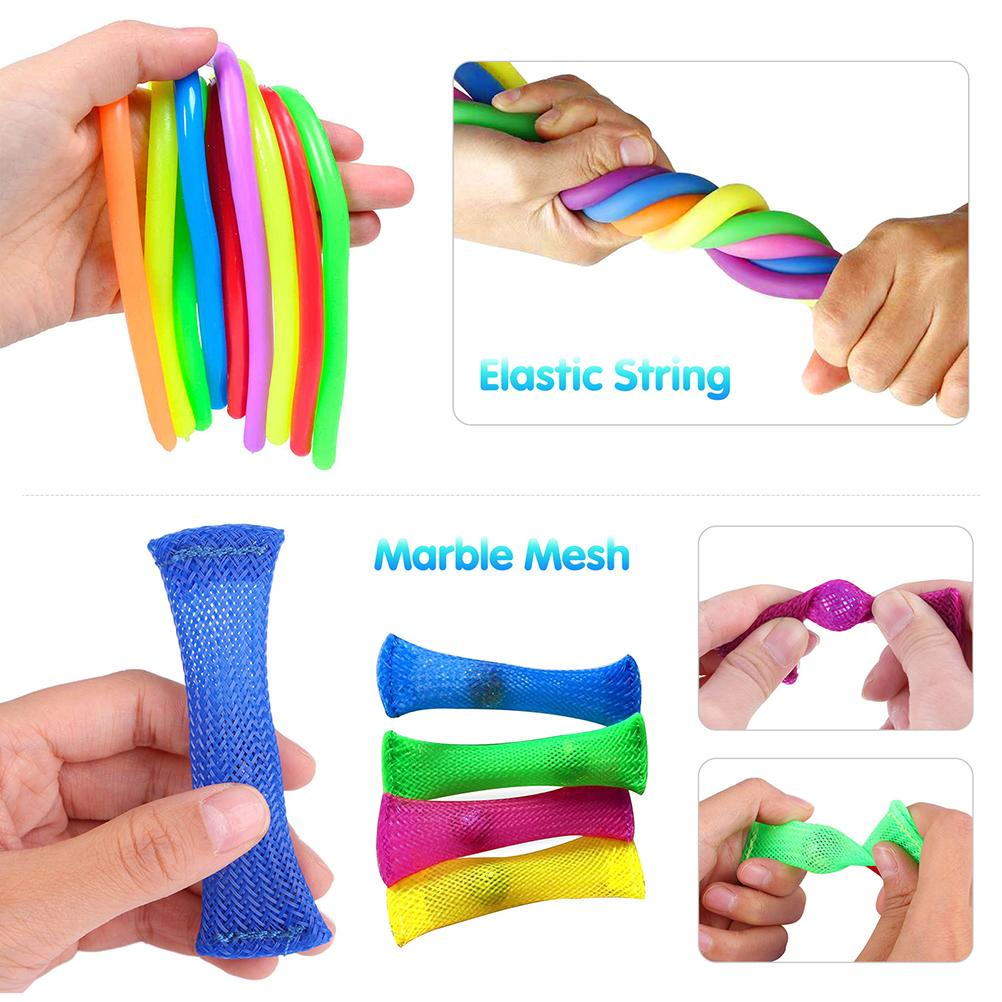 Decompression Toys Gift-Pack Anti-Stress-Set Pop-It Squishy Stretchy-Strings Sensory img4