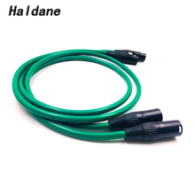 Haldane Pair Gold Plated XLR Balacned Audio Cable 3pin XLR Male to Female Amplifier Interconnect Cable with MCINTOSH USA-Cable free shipping ks 1011 xlr audio interconnect cable with rhodium plated xlr plug