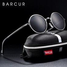Barcur Vòng Kính Chống Nắng Nam Nữ Nhôm Magie Kính Mát Kính Mát Nam Polarizes Oculos De Sol