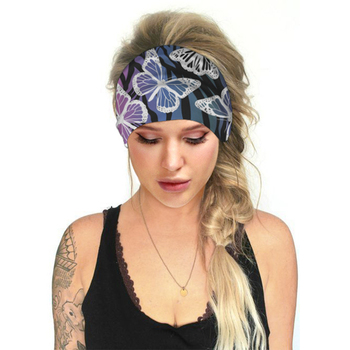 1Pc Multi-use Yoga Sports Headband Fitness Non-Slip Head Wear Flower Butterfly Girl Boy Elastic Tight Sweat-Absorbent Belt