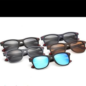 Image 5 - 2019 Nieuwe Klassieke Gepolariseerde Zonnebril Mannen Vrouwen Rijden Vierkante Frame Zonnebril Mannelijke Goggle UV400 Driver bril Nacht Bril