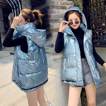 Womens Vests Winter Outerwear Jackets Winter Outerwear Top Women Sleeveless Puffer Jacket Plus Size Autumn Female Vest Waistcoat vests modis m181w00785 women vest jacket sleeveless jackets for female tmallfs summer