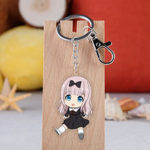 אנימה Kaguya-sama: אהבה הוא מלחמת Keychain Cartoon איור אקריליק תליון Keyring(China)