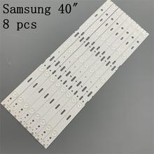 8 PCS 5LED 428mm LED תאורה אחורית רצועת עבור טלוויזיה 40VLE6520BL SAMSUNG_2013ARC40_3228N1 40 LB M520 40VLE4421BF
