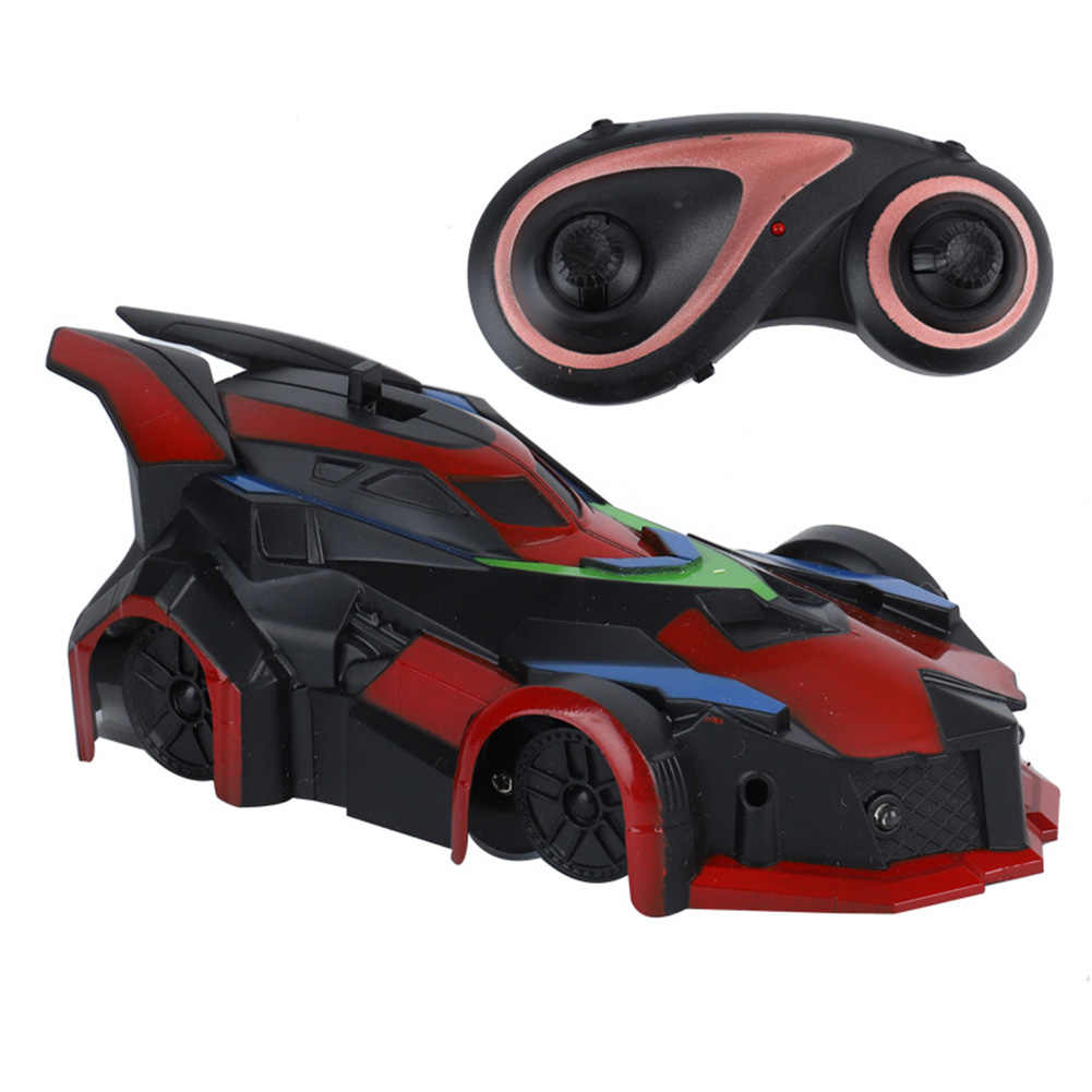 RC Car Gifts Anti Ceiling Hobby Electric Racing 360 Degree Spins LED Lights Gravity Defying Kids Toy Durable Wall Climbing