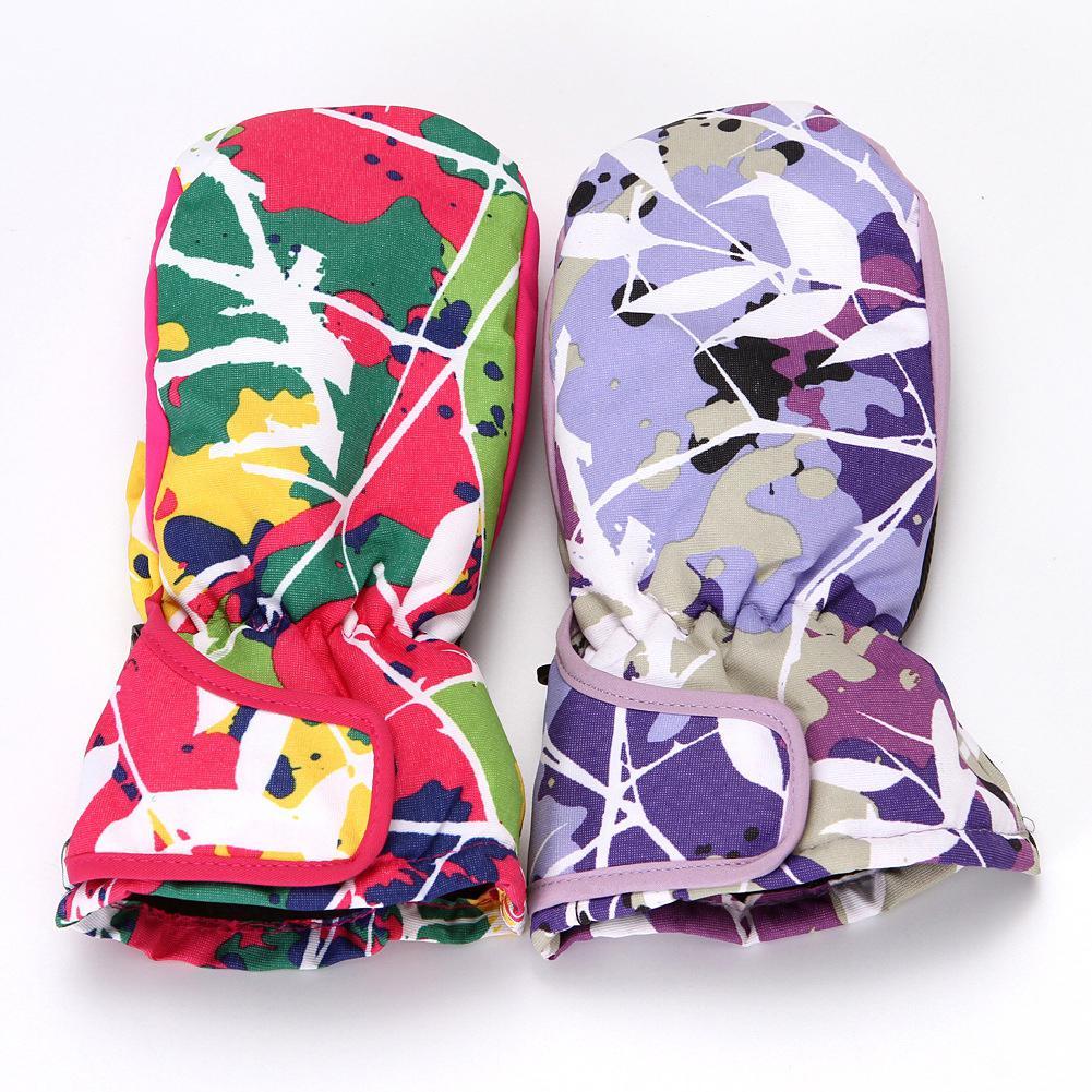HiMISS Ski Gloves Children Unisex Fashion Matching Color Ski Warm Gloves Knitted Keep Warm Mountain Climbing