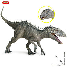Oenux – Figurine du jurassique Indominus Rex pour enfants, jeu modèle de dinosaure Tyrannosaure taille 38x8x18cm avec la bouche ouverte