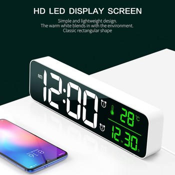 LED Digital Alarm Clocks For Bedrooms Bedside With Snooze Digital Clock For Heavy Sleepers Dual Clock With USB Charger