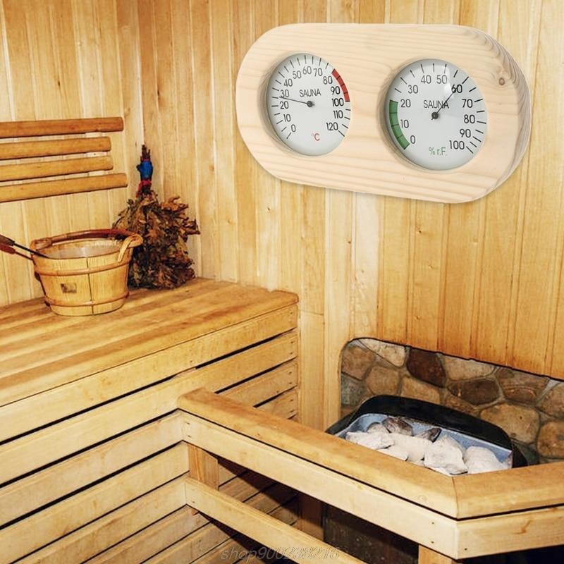 Spruce Humidity Temperature Sauna Hygrothermograph Thermometer Celsius  Sauna Thermometer Hygrometer MY24 21 Dropship