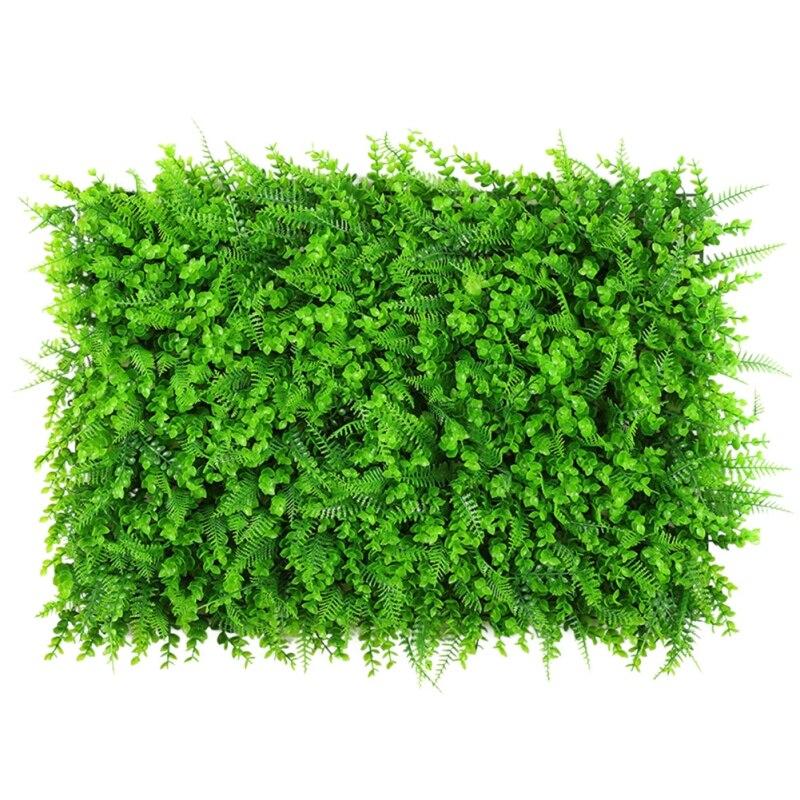 40*60*8cm Artificial Green Plant Lawn Carpet DIY Beautification Wall Straw Mat Family Garden Wedding Decoration Simulation Lawn