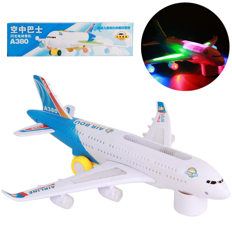 A380 Air Bus Electric Universal Airplane With Music Light Toy Wholesale