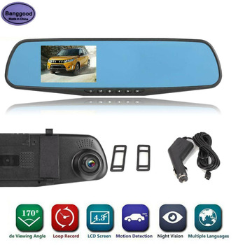 3.5 Inch Full HD 1080P Car DVR Camera Automobile Data Recorder Rearview Mirror Digital Video Recorder Front Lens Camcorder image