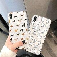 Custodia per cani carina per Xiaomi Poco F3 X3 NFC Mi 10T Redmi Note 9 S 9 S 9A 9C 8 T 8 T 7 5 6 10 10S Lite Pro Max Soft TPU Clear Funda