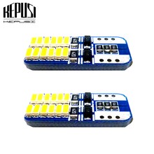2X T10 W5W LED Car Light Canbus lamps Turn Signal License Plate Trunk Reading Lamp Parking 12V White Blue