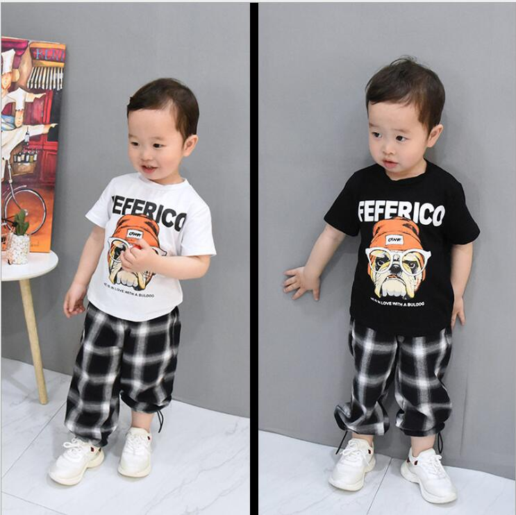 Summer Cute Letter 2PCS Kids Baby Boys Vest Top Pants Set Clothes Children Fashion Clothing Sets 2-6years 6