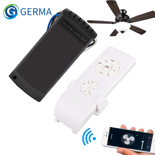 $ US $17.99 GERMA Wifi Ceiling Fan Smart Remote Control Switch Timer Fan Speed Controller Works With Alexa Google Home AC 110V 220V