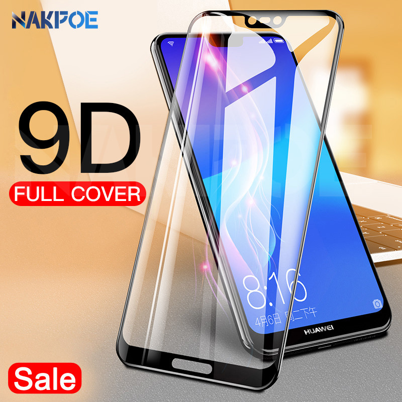 9D Protective Glass On The For Huawei P20 Pro P10 P9 Lite Plus Huawei P Smart 2019 Tempered Screen Protector Safety Glass Film