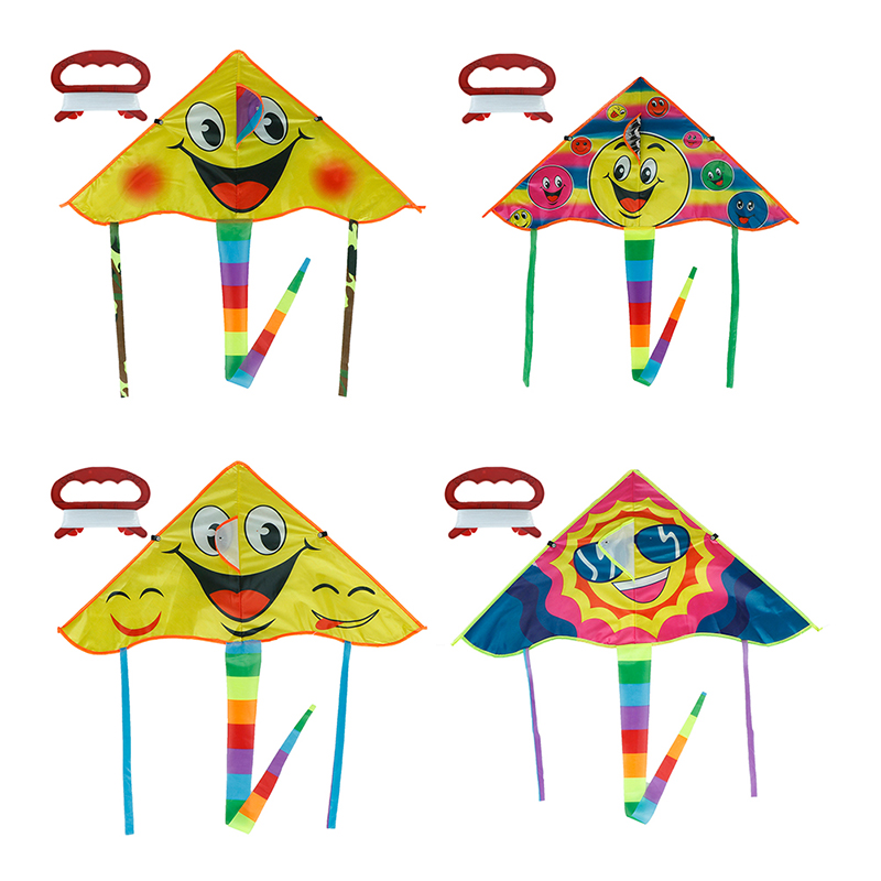 New Design Face Kite  Cometa Child Toys Smile Angel Sports Beach Toy Smile Stunt Kites