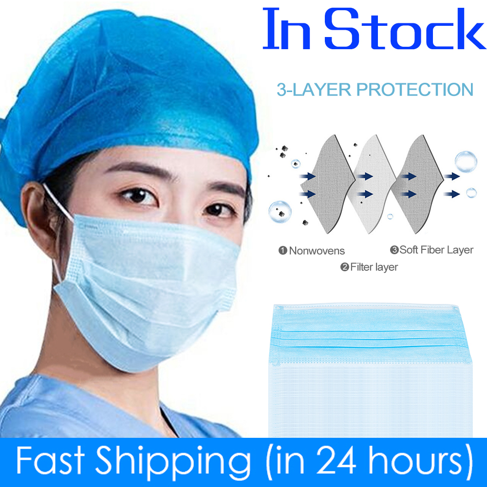 Fast shipping whinth 24h Face Masks 3 Ply Disposable Mouth Mask Respirator FPP2 Maska PM2.5 FPP3 arrive quickly