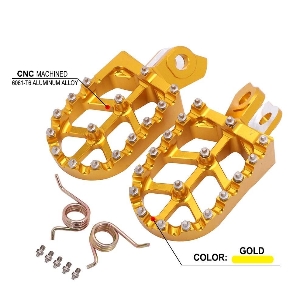 Moto CNC repose-pieds pédales repose repose-pieds repose-pieds pour SUZUKI RMZ250 2010-2018 RMZ450 2008-2018 RMX450Z 2010-2017