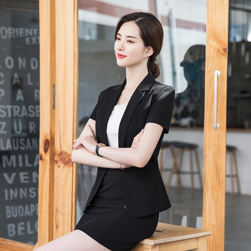Elegant 2020 New Style Slim Fit Western Style Scheming Non-mainstream-Business Business Formal Wear WOMEN'S Overskirt Summer Hj9